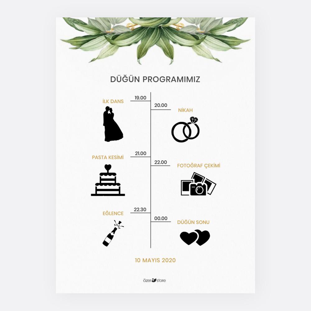 Programlı Düğün Davetiyesi 700306