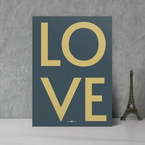 Gold Love Düğün Davetiyesi 700338