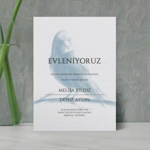 Mavi Kuş Düğün Davetiyesi 700372