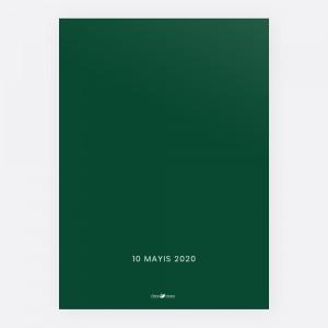 Yeşil Modern Düğün Davetiyesi 700374