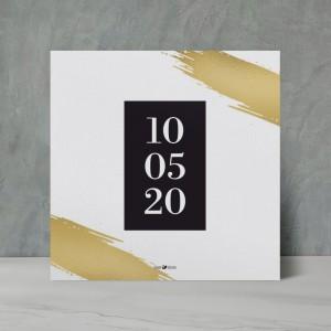 Beyaz Gold Düğün Davetiyesi 700382