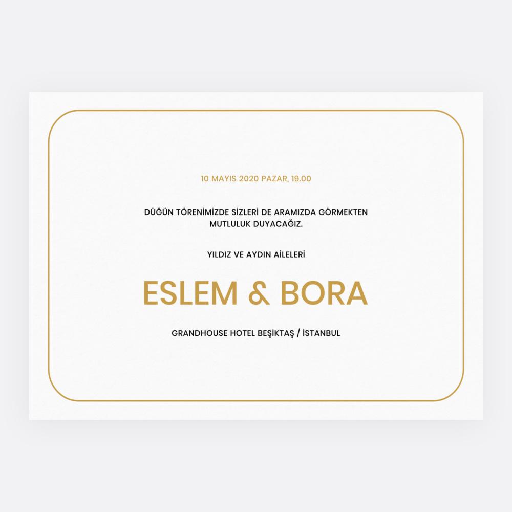 Programlı Modern Düğün Davetiyesi 700313