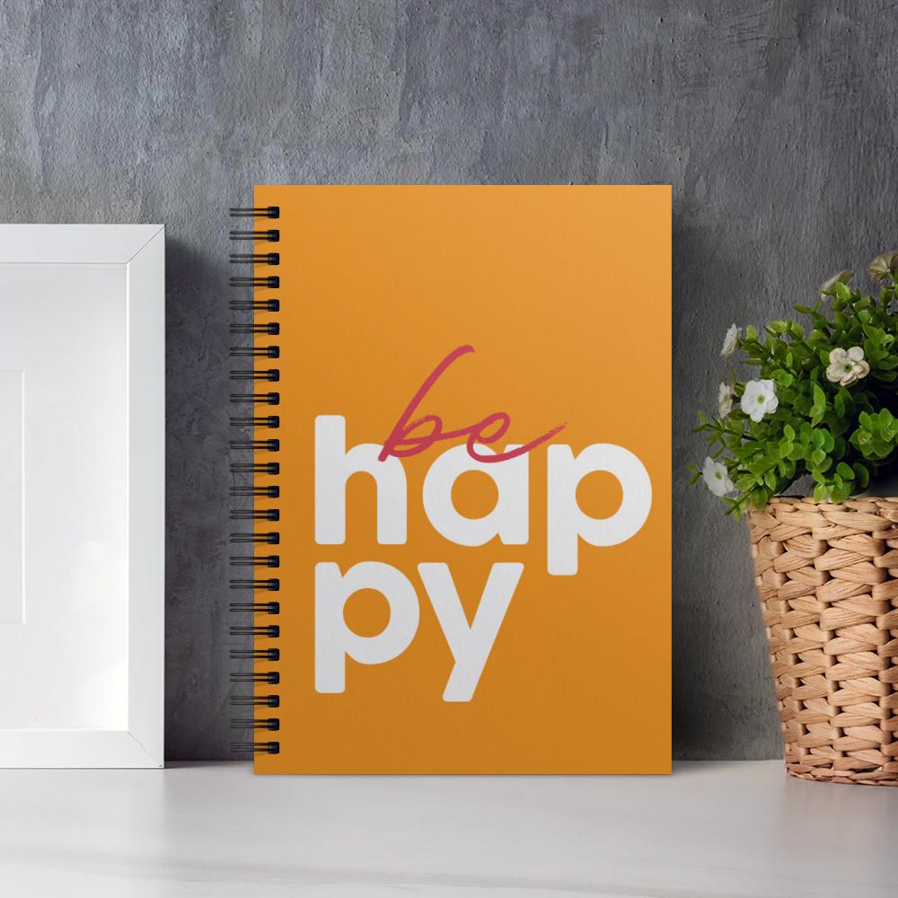 Happy Serisi Turuncu Fotoğraflı Kişiye Özel Defter 20091