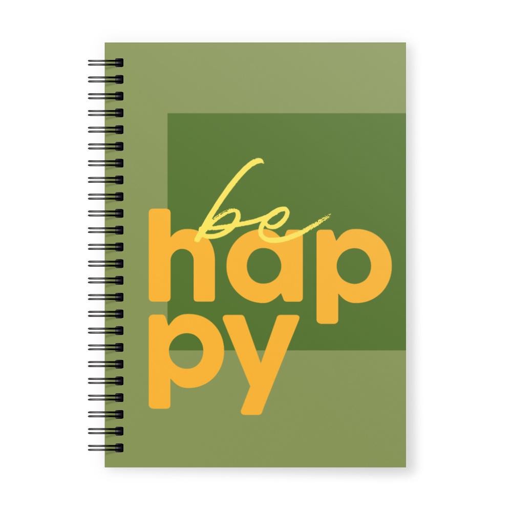 Happy Serisi Yeşil Fotoğraflı Kişiye Özel Defter 20094