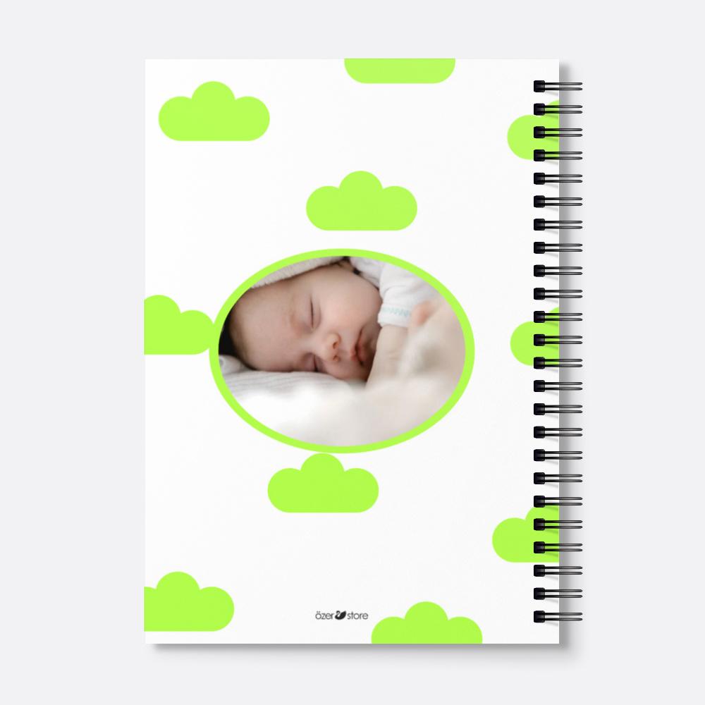 Yeşil Bebek Günlüğü Kişiye Özel Defter 20048