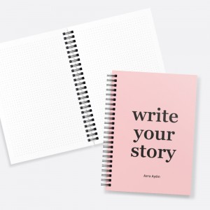 Write Your Story Pembe İsimli Kişiye Özel Defter