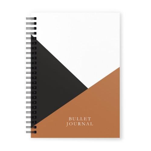 Bullet Journal Kahverengi Siyah İsimli Kişiye Özel Defter