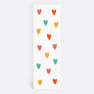 Renkli Kalpli Fotoğraflı Kişiye Özel Kitap Ayracı 70002