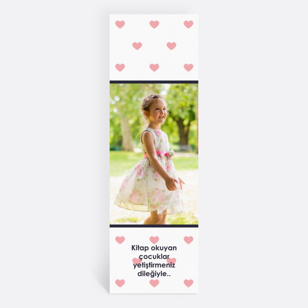 Beyaz Kalpli Kişiye Özel Kitap Ayracı 70017
