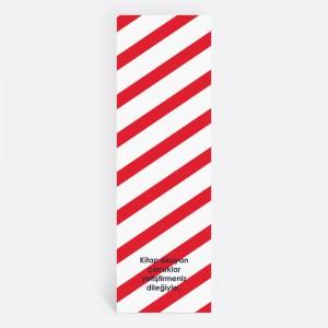 Kırmızı Çizgili Kişiye Özel Kitap Ayracı 70019