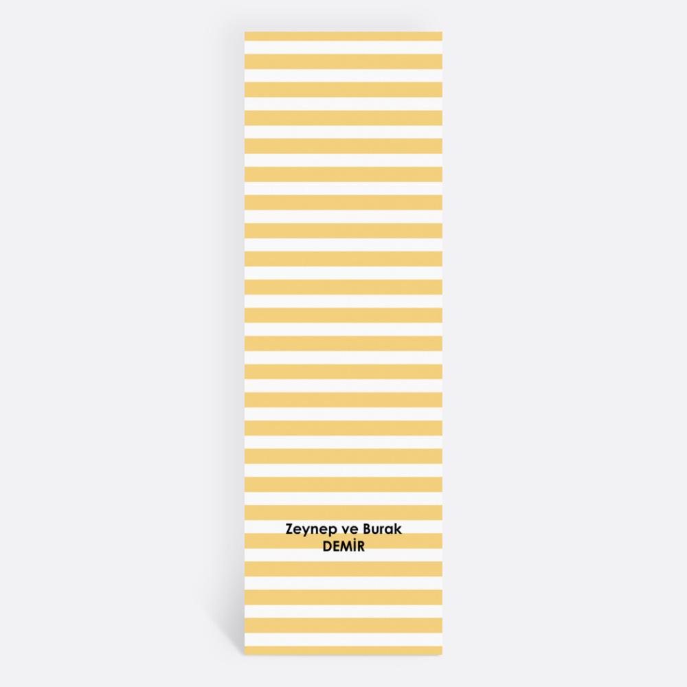 Sarı Çizgili Kişiye Özel Kitap Ayracı 70027