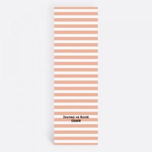 Yavruağzı Çizgili Kişiye Özel Kitap Ayracı 70028
