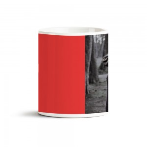 Kırmızı Yazılı Fotoğraf Baskılı Kupa Bardak 40030