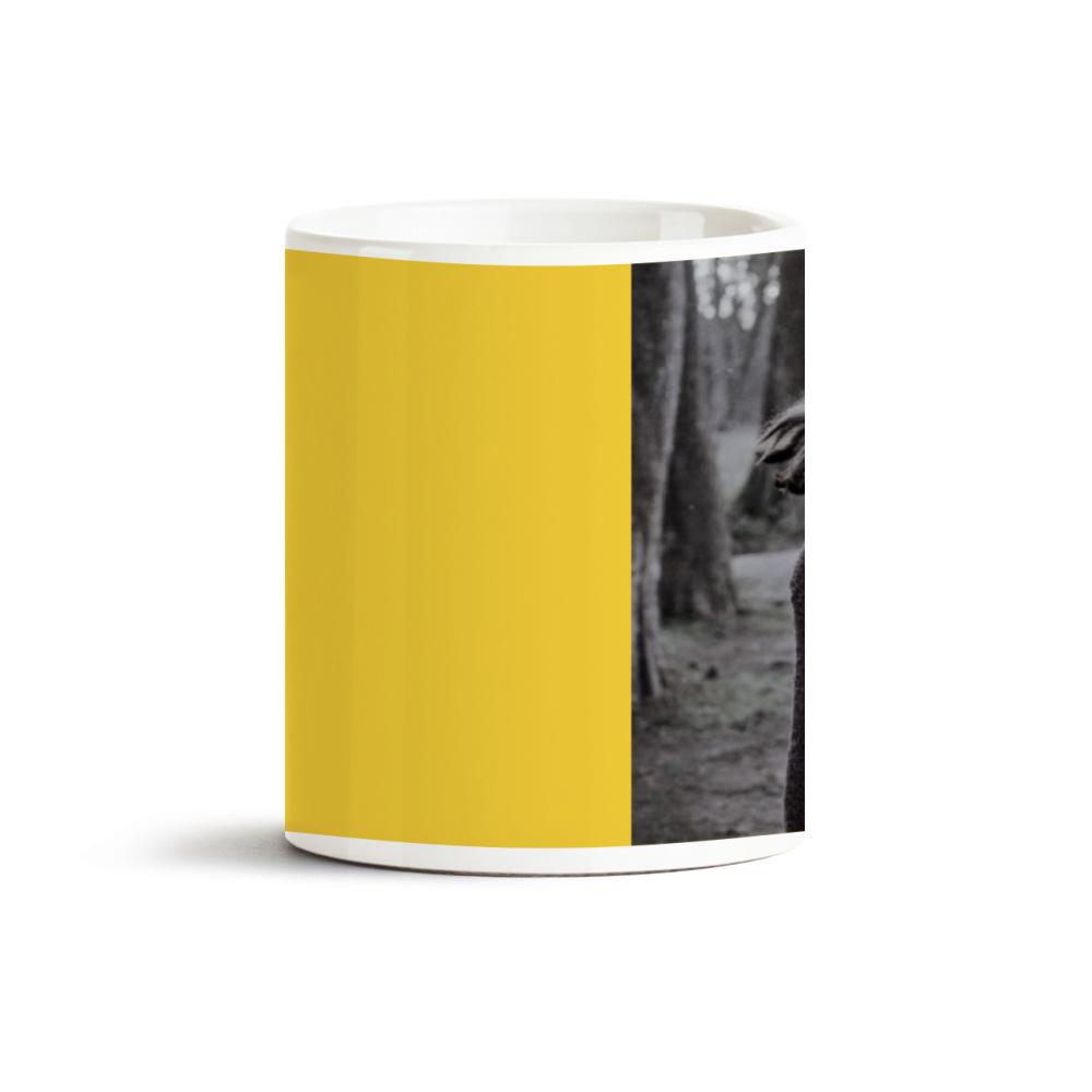 Sarı Yazılı Fotoğraf Baskılı Kupa Bardak 40031