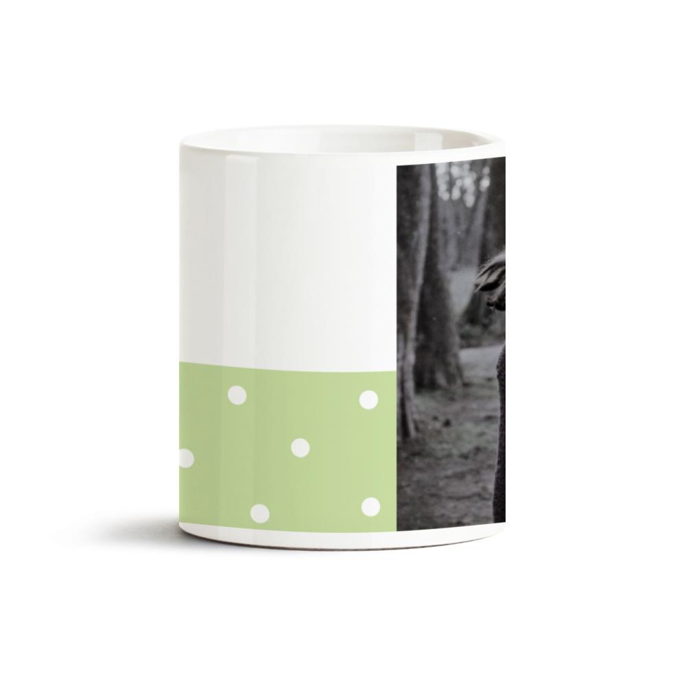 Yeşil Kalpli Fotoğraf Baskılı Kupa Bardak 40050