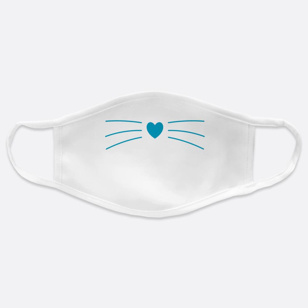 Mavi Kedi Burun Çocuk Yüz Maskesi