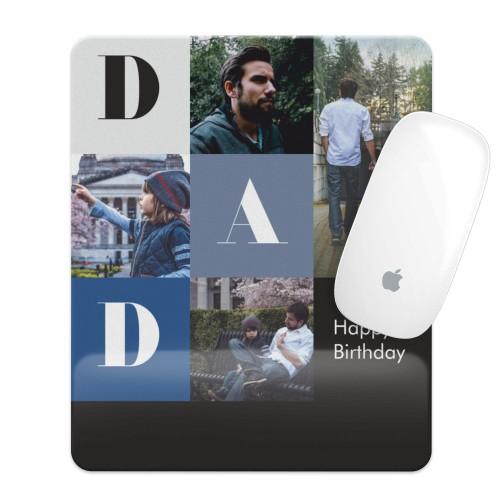 Kişiye Özel Dad Happy Birthday Fotoğraflı Mouse Pad