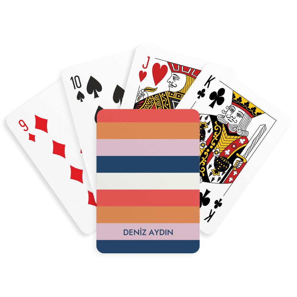 Renkli İsimli Kişiye Özel Oyun Kartı