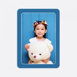 Mavi Kenarlı Fotoğraflı Kişiye Özel Oyun Kartı