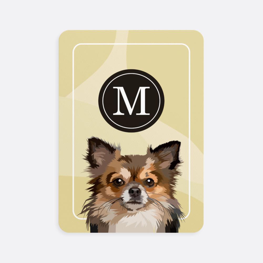 Köpek Resimli Baş Harfli Kişiye Özel Oyun Kartı