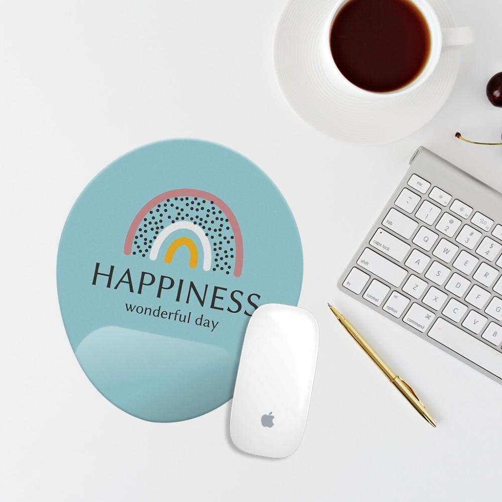 Happiness Mavi Bilek Destekli Mouse Pad