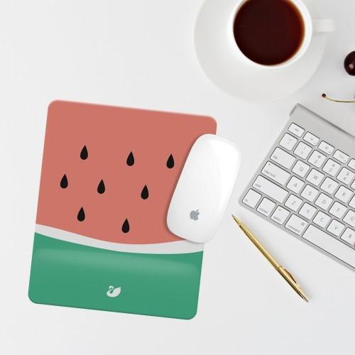 Karpuz Çizimli Bilek Destekli Dikdörtgen Mouse Pad Mouse Altlığı