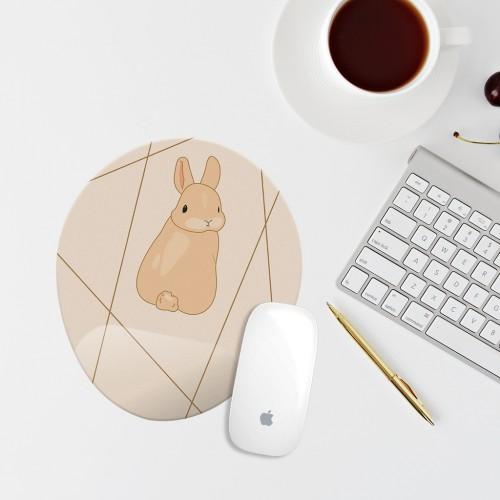 Tavşanlı Bilek Destekli Oval Mouse Pad